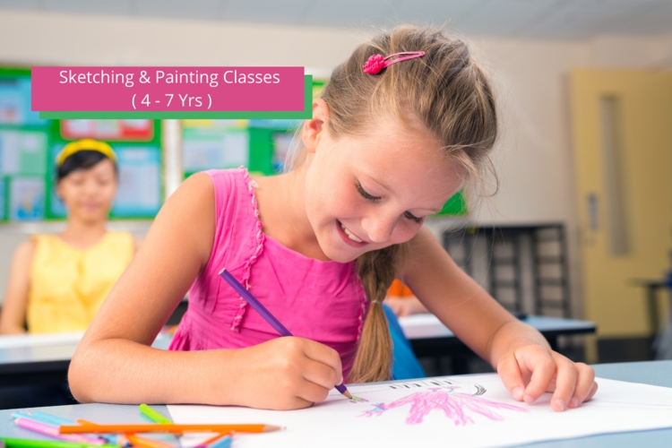 Sketching & Painting Classes ( 4 - 8 Yrs )