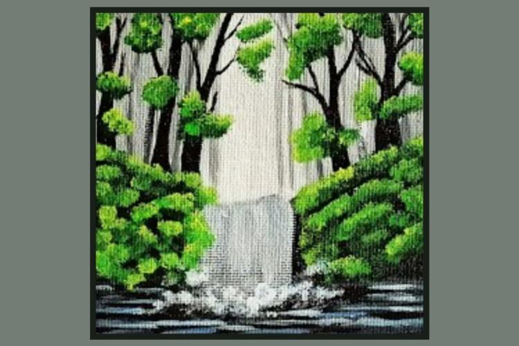 Acrylic Painting Workshop - Waterfall Theme!